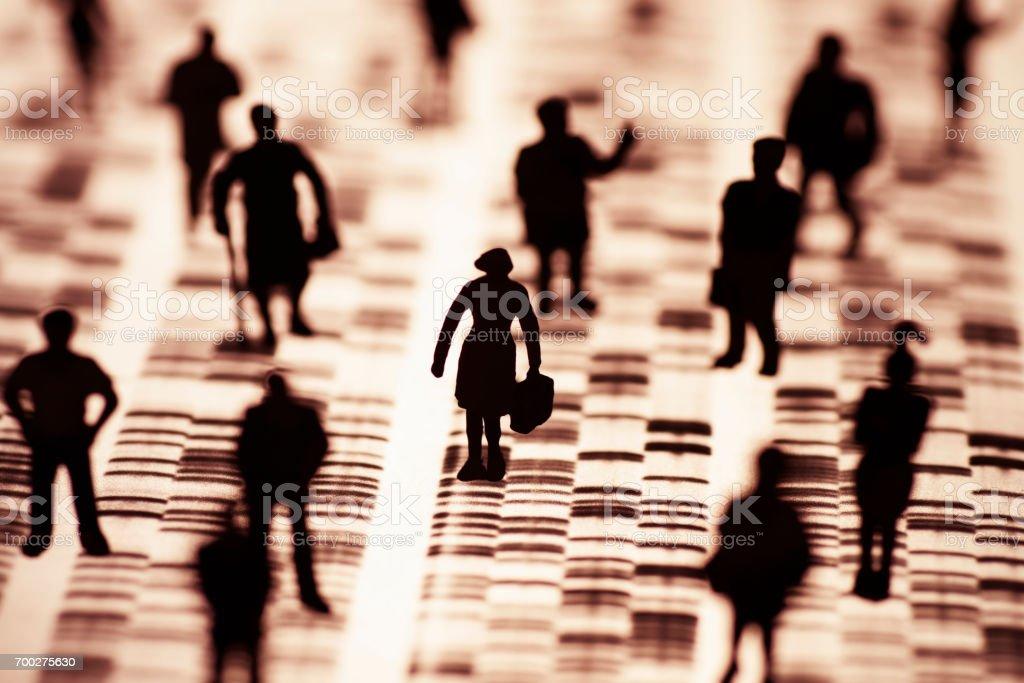 Menschen Und DNA-Profils – Foto