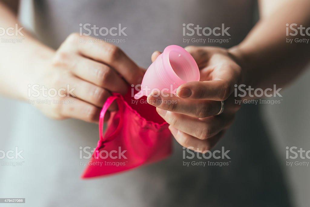 Copa de menstruaciones - foto de stock