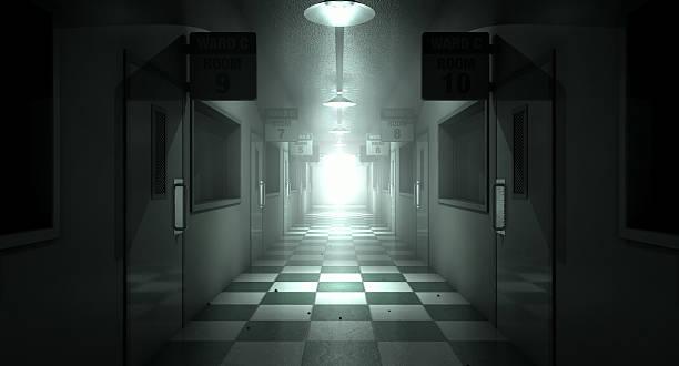mental asile hantée - hopital psychiatrique photos et images de collection
