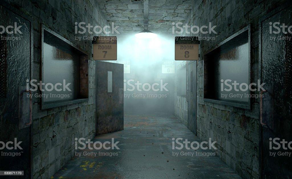 Mental asilo Haunted - foto de stock