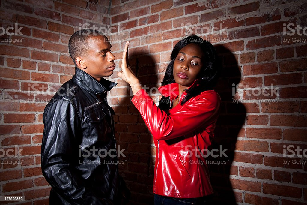 Mental Health African American Couple Conflict stock photo