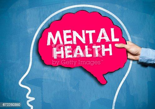 istock Mental Health / Blue board concept (Click for more) 672250350