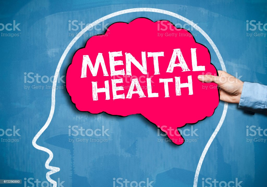 Mental Health / Blue board concept (Click for more) stock photo