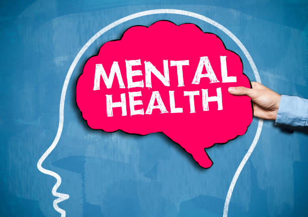 Mental Health / Blue board concept (Click for more) stock photo