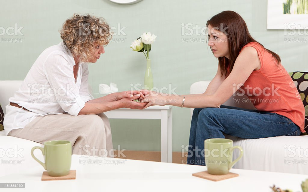 Mental Health: Care and compassion stock photo