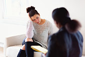 Mental  health:  client talking during psychotherapy session