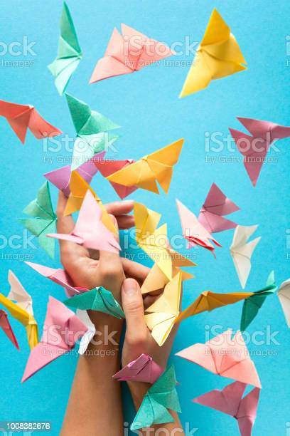 Mental health concept colorful paper butterflies flying and sitting picture id1008382676?b=1&k=6&m=1008382676&s=612x612&h=6lqax16nxrej2dbw4 svmvegojlvfpd2ympgwn hspi=