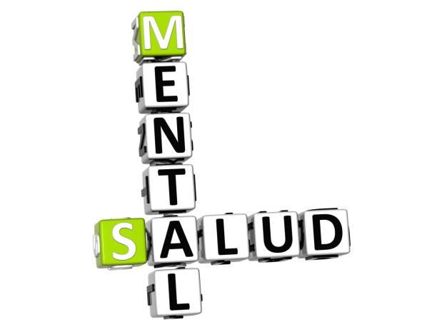 beyaz arka plan üzerinde 3d ruh sağlığı (zihinsel salud) bulmaca - salud stok fotoğraflar ve resimler