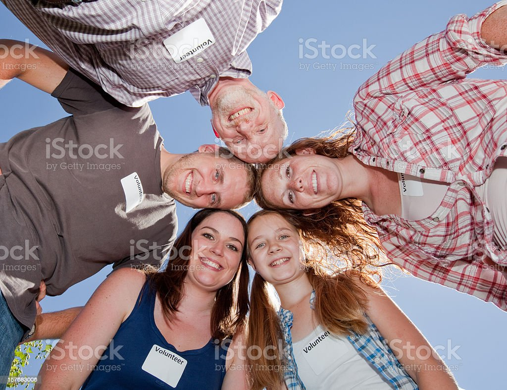 Mental Health Positive Emotion Associated with Volunteering royalty-free stock photo