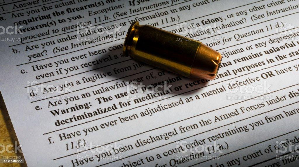 Psychische Gesundheit Frage auf Waffe Zuverlässigkeitsüberprüfung – Foto