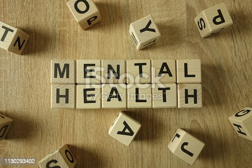 istock Mental health text from wooden blocks 1130293402