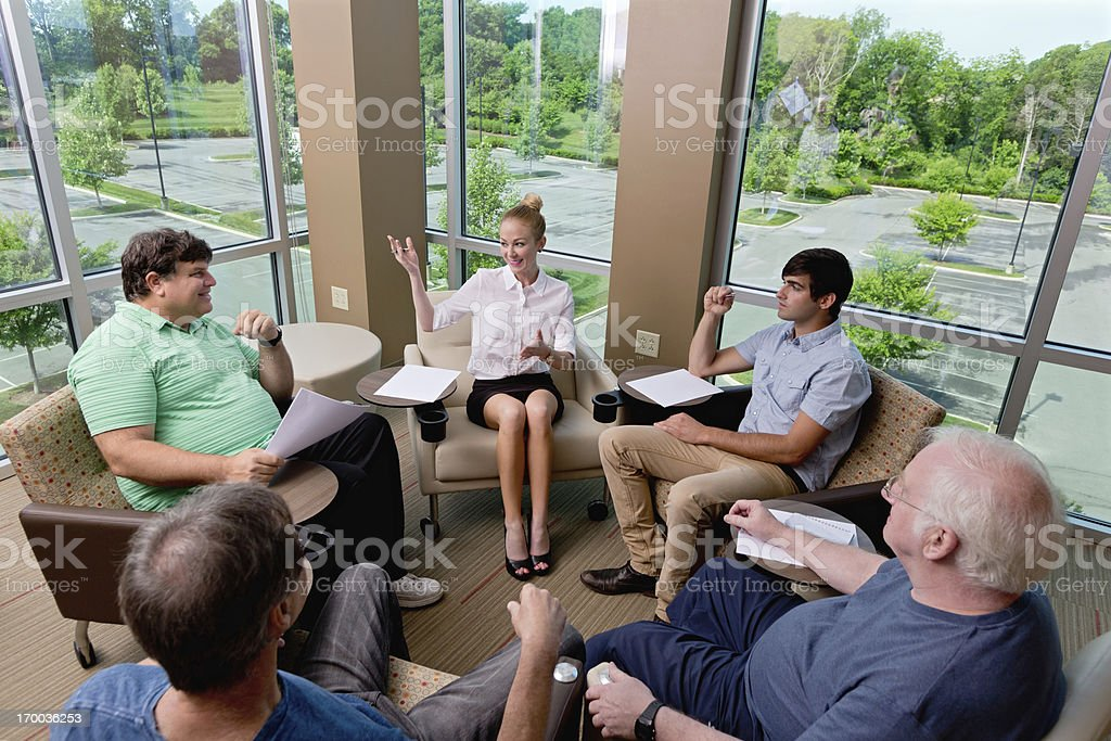 Mental Health : therapy counseling session or Business Brainstorming stock photo