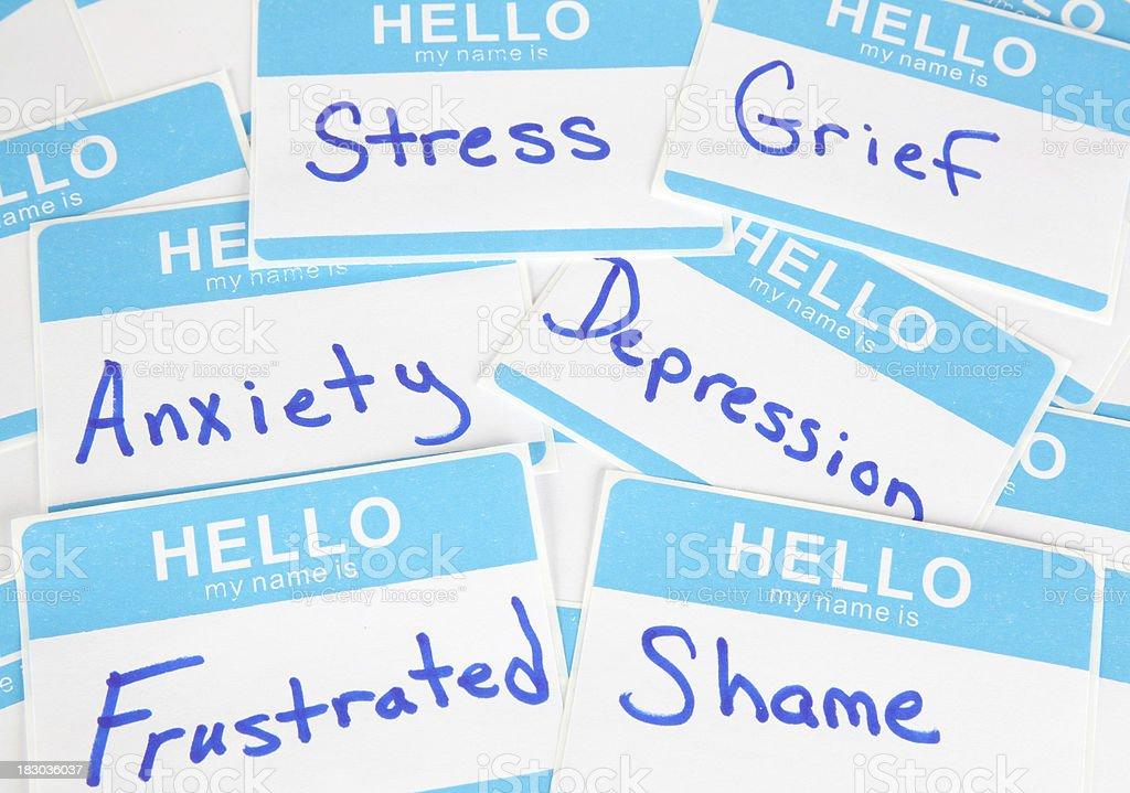 Mental Health Words royalty-free stock photo
