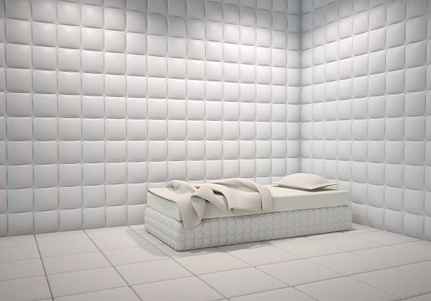 hôpital mentale pièce capitonnée - hopital psychiatrique photos et images de collection