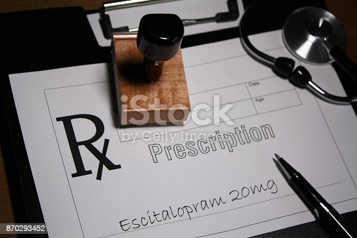Escitalopram is an antidepressant medication used as a drug to help treat depression, obsessive-compulsive disorder, social anxiety disorder and other mental illnesses.
