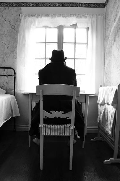 mental patient - psychiatric ward stock photos and pictures