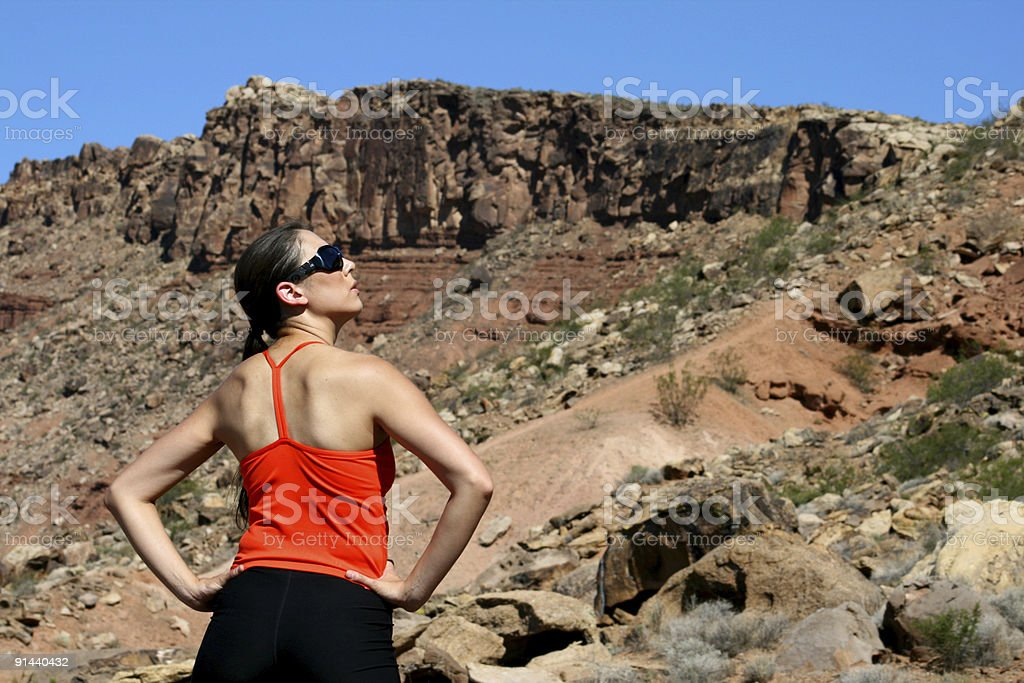 Mental Preparation (Utah RedRockalypse) stock photo