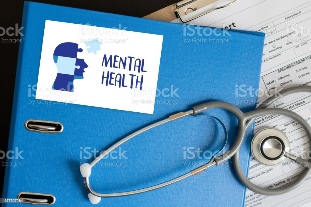 MENTAL HEALTH Mental Psychological Stress Management and Psychological trauma Health stock photo