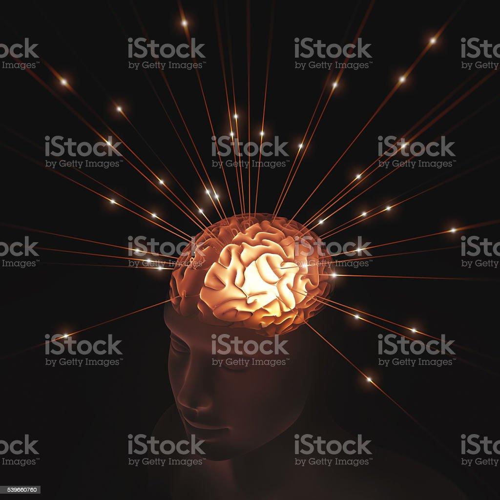 Mental Pulse Information stock photo