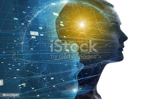istock Mental world of human concept. 904420042