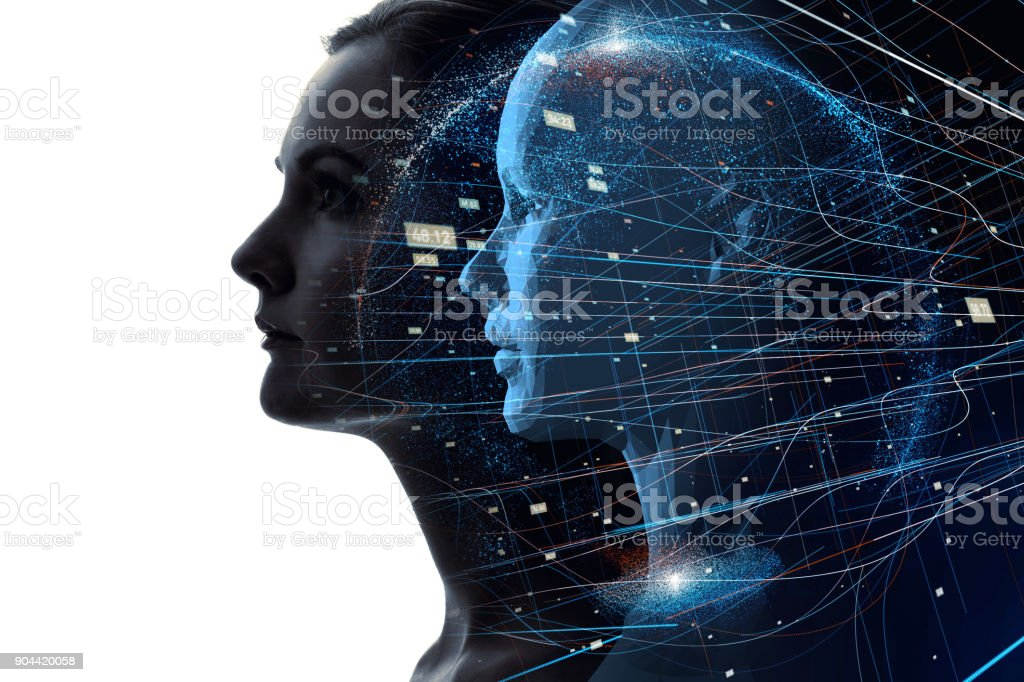 Mental world of human concept. royalty-free stock photo