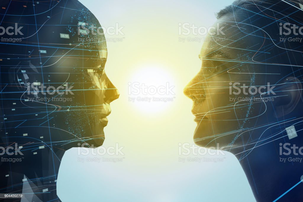 Mental world of human concept. stock photo