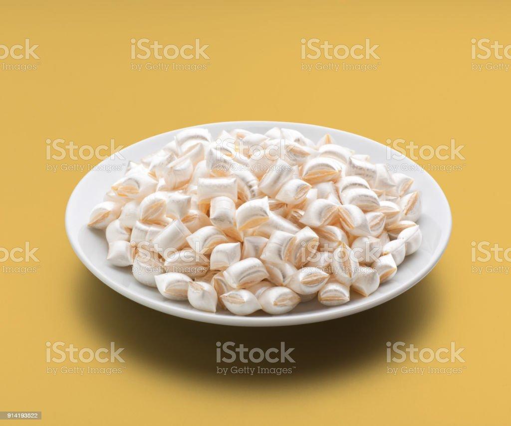 Mentol aromalı akide şeker (Türk şeker) stok fotoğrafı