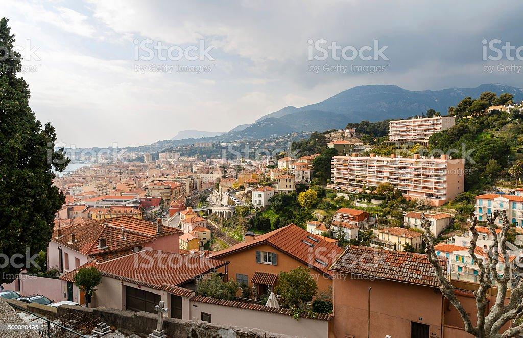 Menton city - Cote d'Azur, France stock photo
