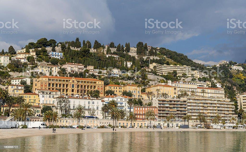 Menton city in February - French Riviera stock photo