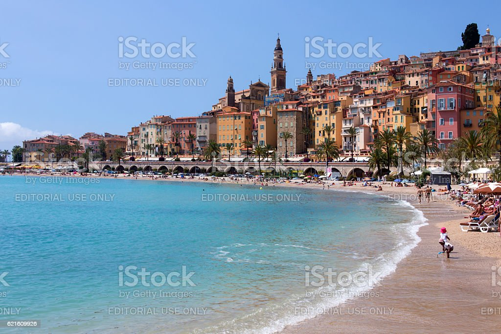 Menton - Cote d'Azur - South of France stock photo