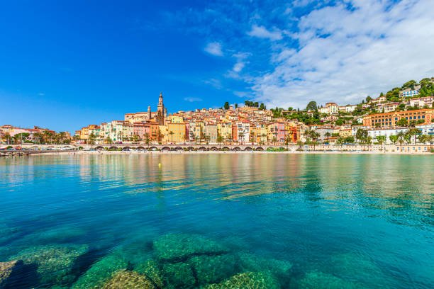 Menton, French Riviera, France stock photo