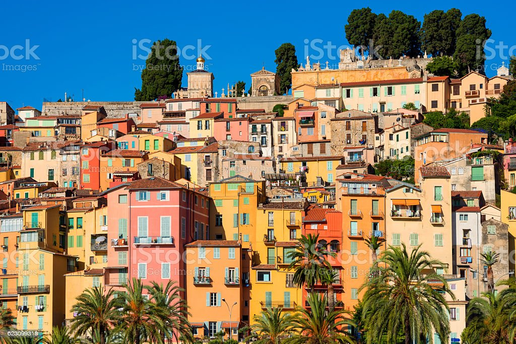 Menton Southern France stock photo