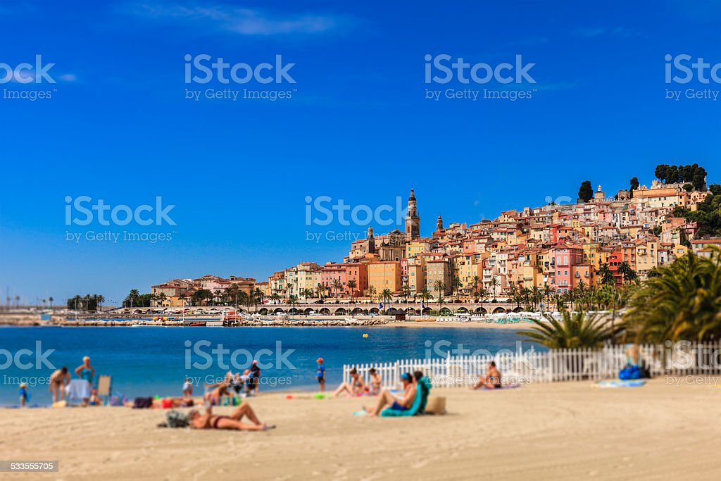 Menton, France stock photo