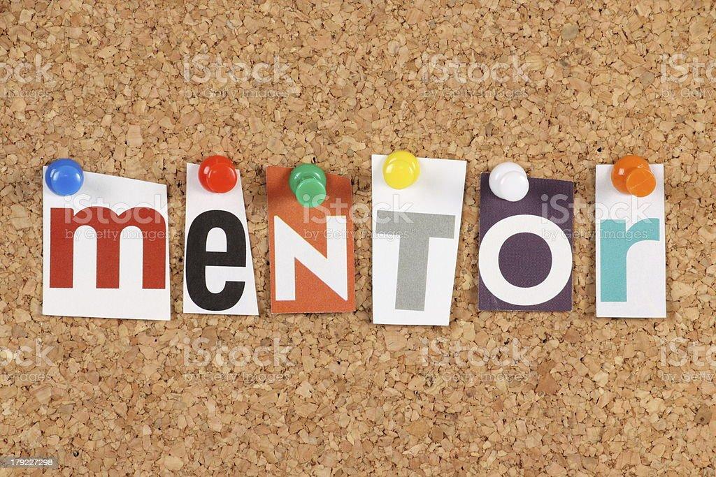 Mentor royalty-free stock photo