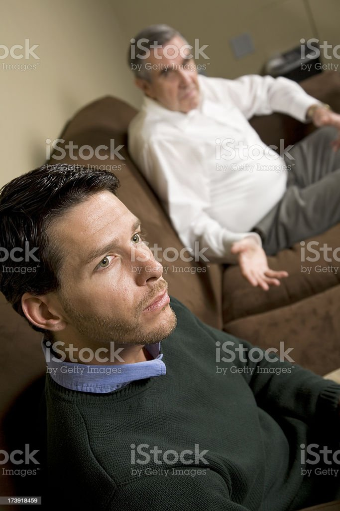 Mentor Reaching Out To His Student royalty-free stock photo