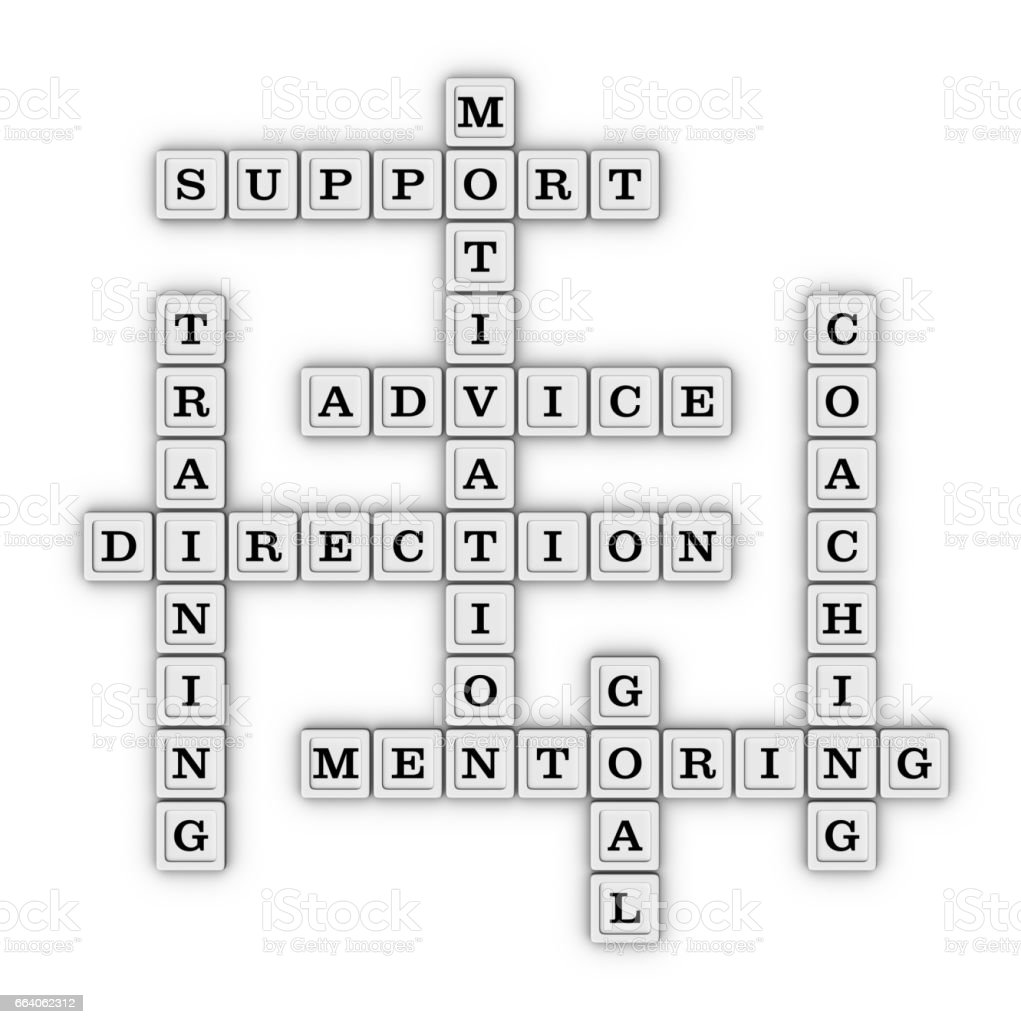 Mentoring Concept Crossword Puzzle. stock photo