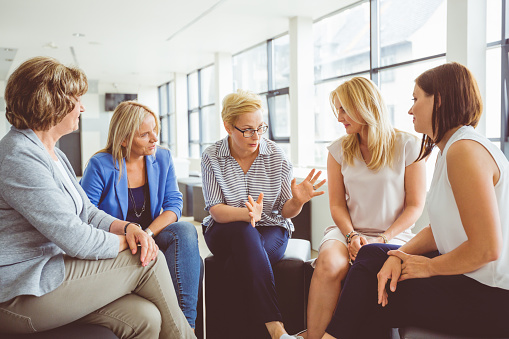 Mentoring Session For Women Stock Photo - Download Image Now
