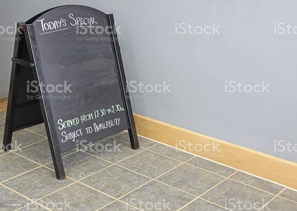 menu board in restaurant royalty-free stock photo