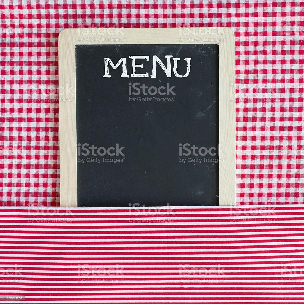 Menu card chalkboard royalty-free stock photo