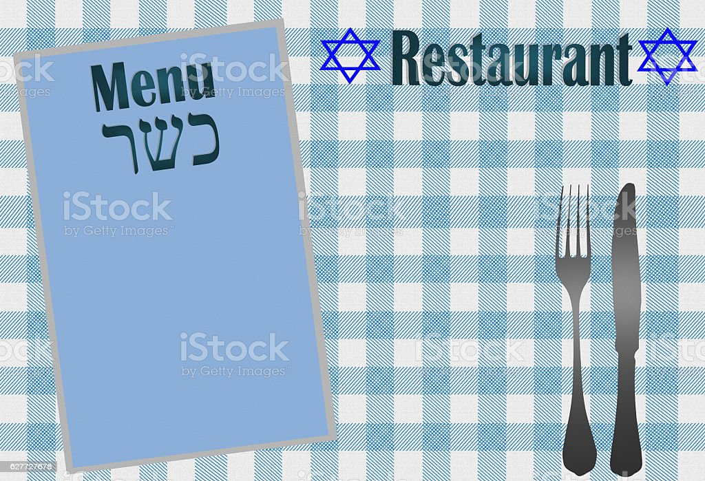 Menu Casher - Restaurant stock photo