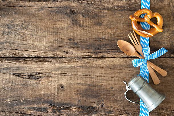 Menu for Bavarian specialties stock photo