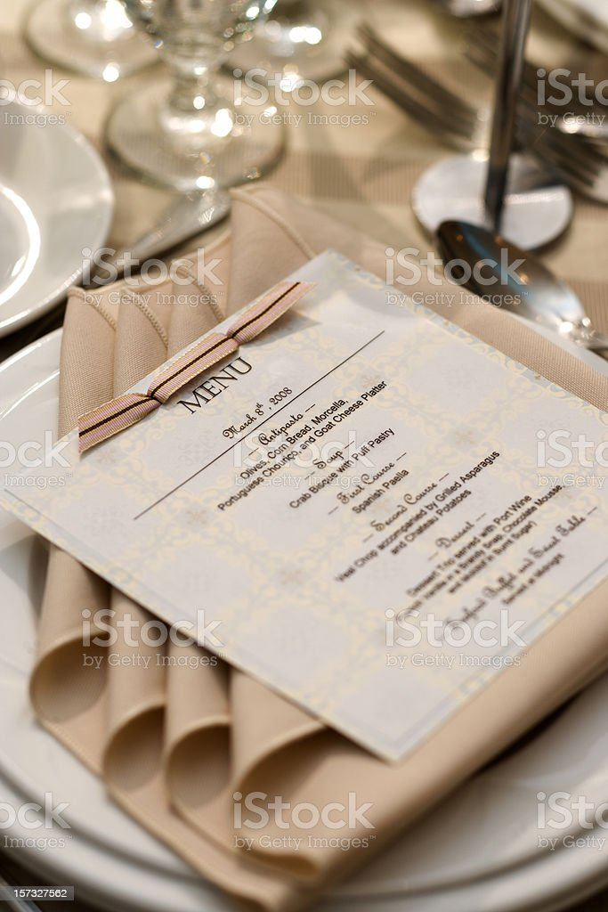 Menu for dinner royalty-free stock photo