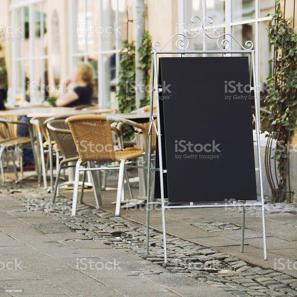 Menu offerings stock photo