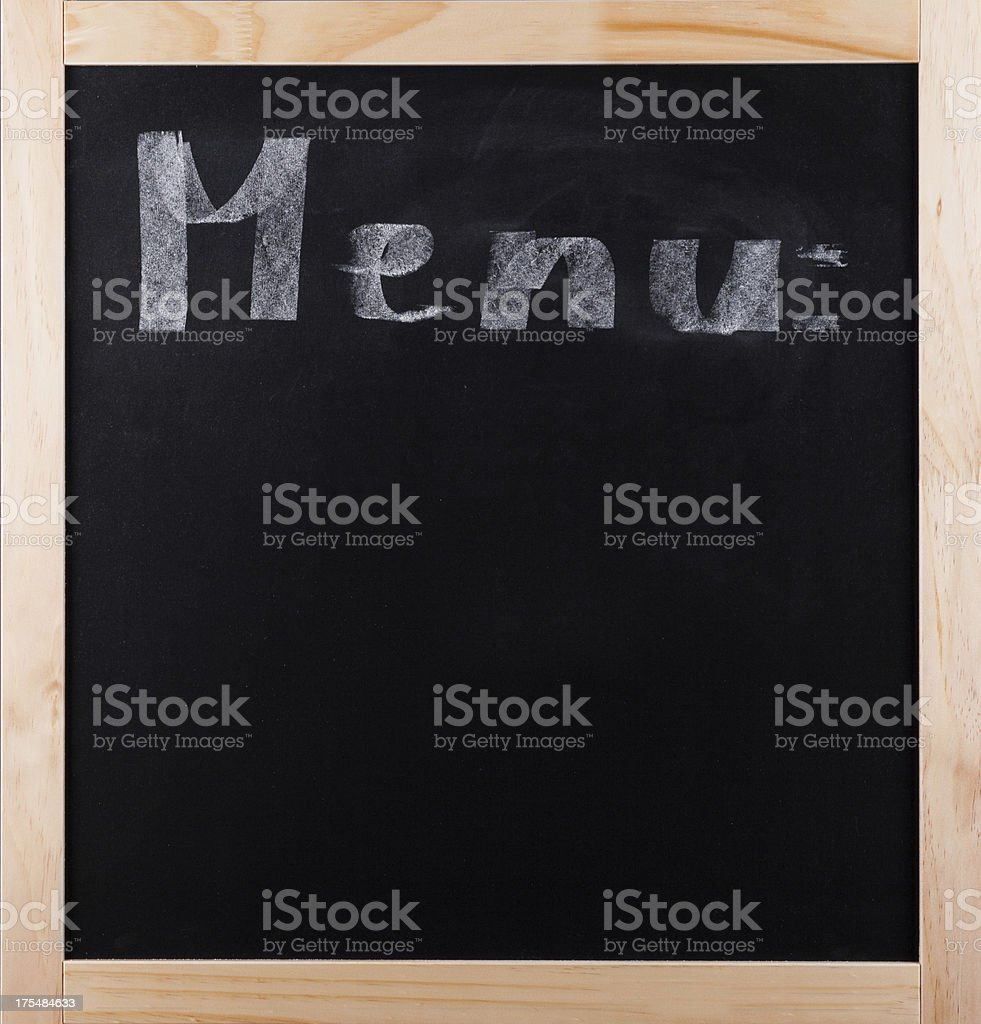 Menu on Blackboard royalty-free stock photo