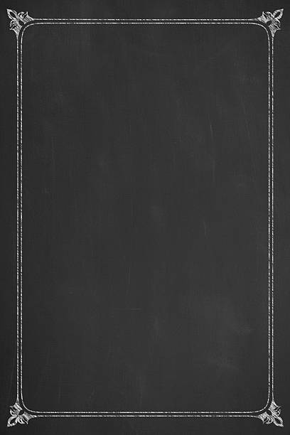 Menu on Blackboard stock photo