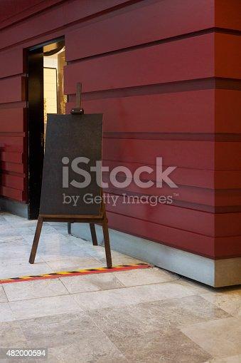 839409724 istock photo Menu on blackboard - Stock Image 482000594