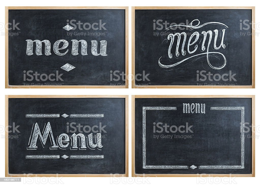 menu stock photo