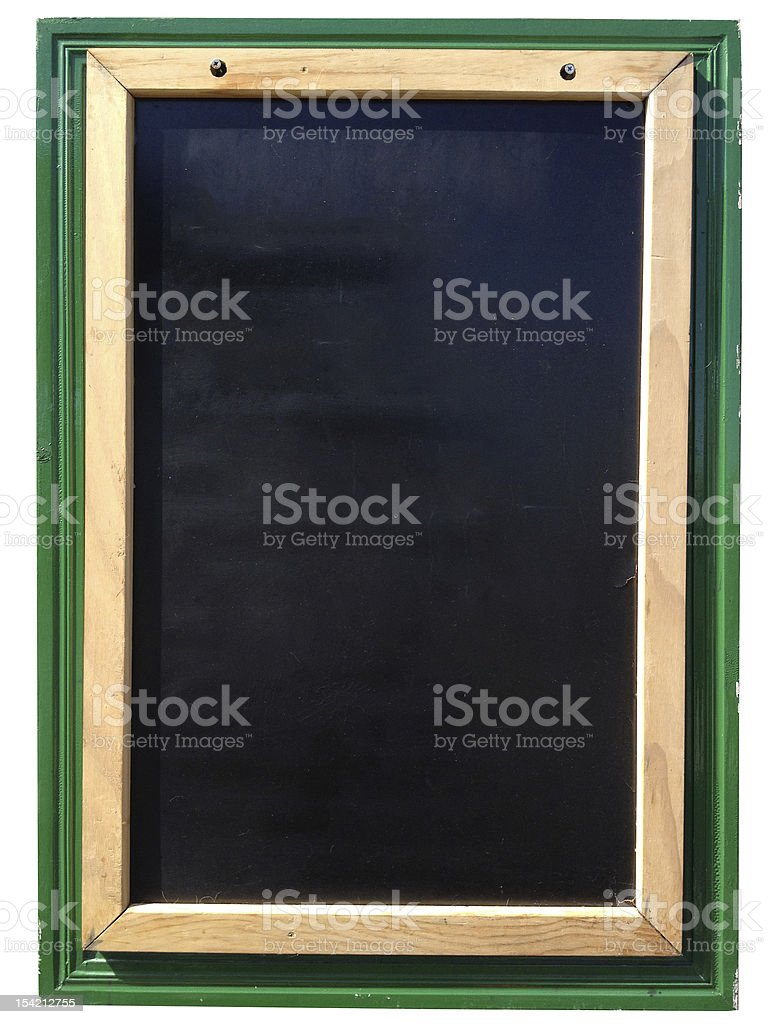 menu sign vertical blank blackboard stock photo