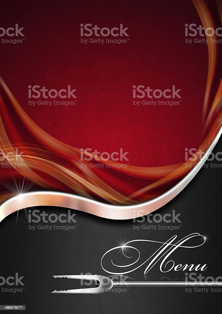 Menu Template - Red Metal and Black stock photo
