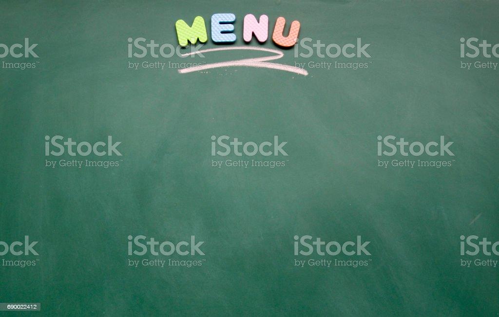menu title stock photo